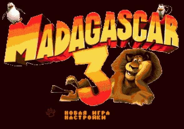 картридж (кассета) на SEGA (сега) Madagascar 3(мадагаскар 3)