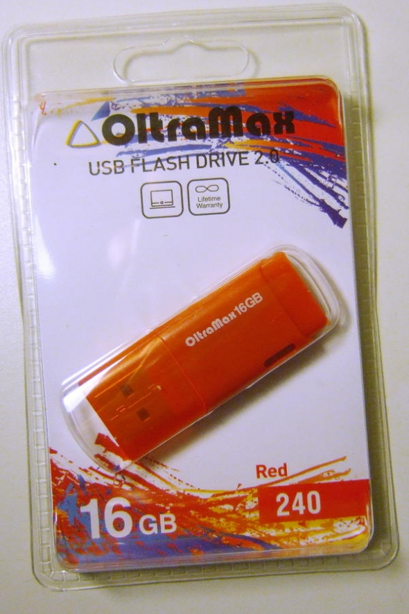 Флеш-накопитель USB 16 gb OltraMax 240 красный