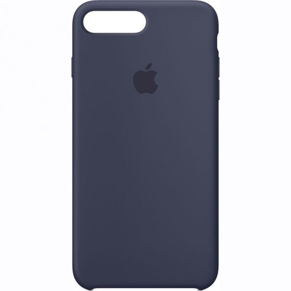чехол софт тач iPhone 5 4D (темно-синий)