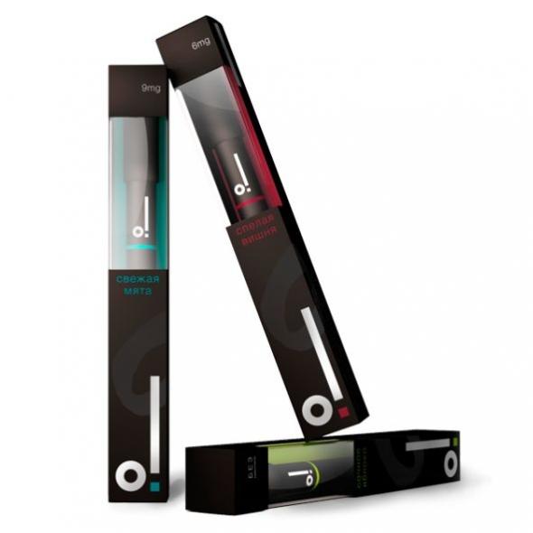 Одноразовая электронная сигарета без никотина О! яблоко