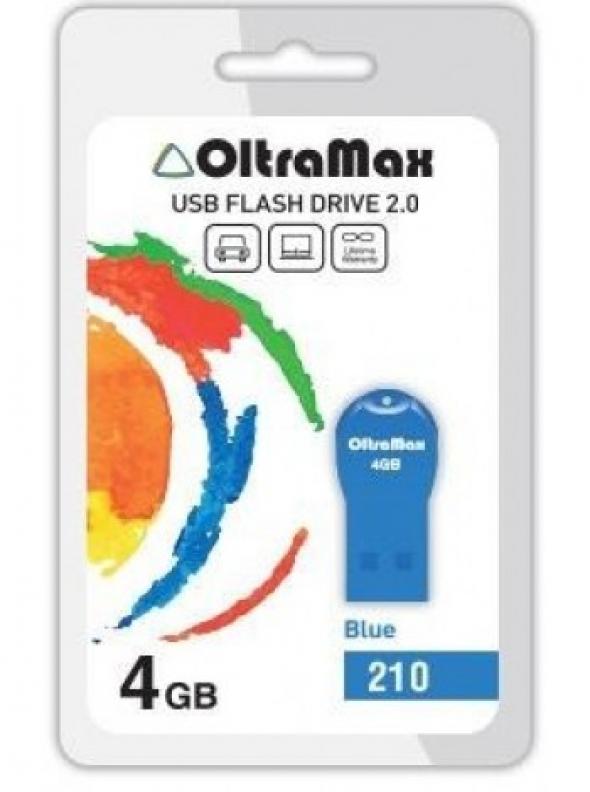 Флеш-накопитель USB  4GB  OltraMax   30  синий