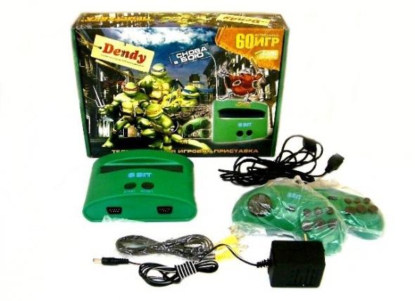 Игровая приставка  dendy Turtles 60 in 1