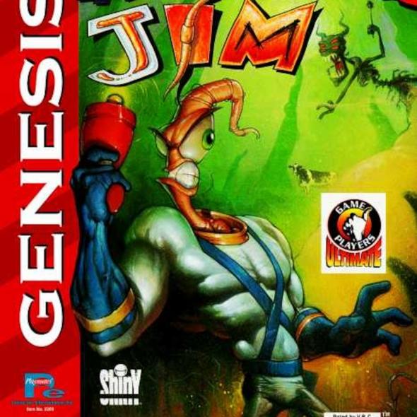 картридж (кассета) на SEGA (сега) Earthworm Jim  (червяк джим)