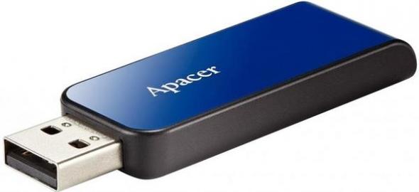 Флеш-накопитель USB  8GB  Apacer  AH334  голубой