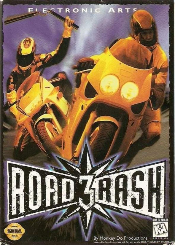 картридж (касcета) на SEGA (сега) road rash 3