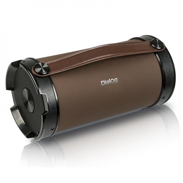 Колонки DIALOG Progressive AP-1000, коричневый/черный, 16W RMS, Bluetooth, FM+USB reader