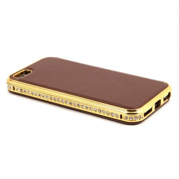 чехол для телефона iphone 5s(айфон 5с), арт shengo 007724 коричневый
