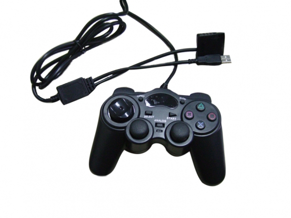 джойстик для PC,PS2 Joystick 2 Shocks проводной