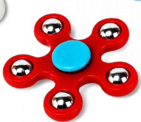 Spinner ( Спиннер ) с металлическими шариками красный