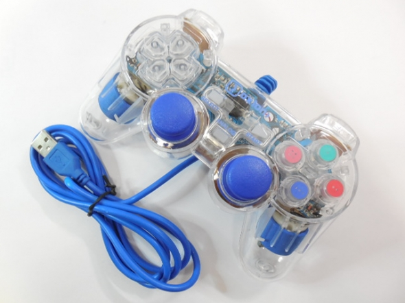 Геймпад OXION OGP02BL, синий, plug and play. USB 2.0.