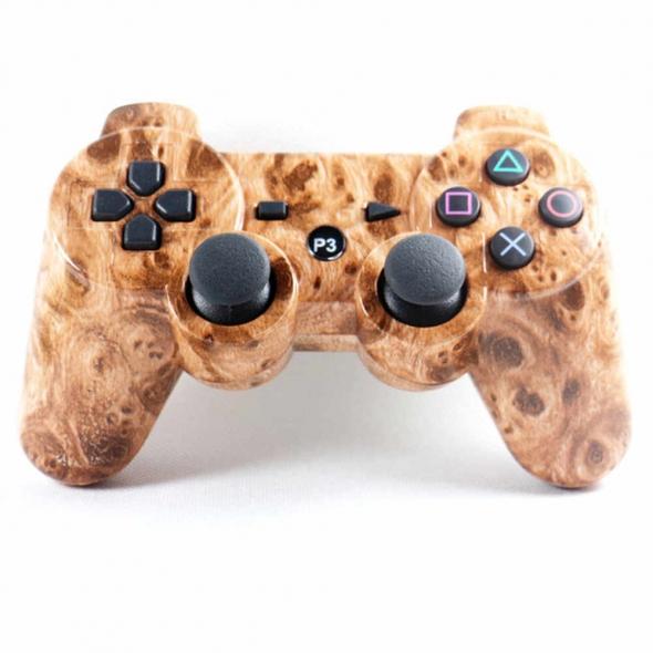 джойстик для Sony PLAYSTATION 3 (сони плейстейшн 3)  Dualshock 3 Дерево