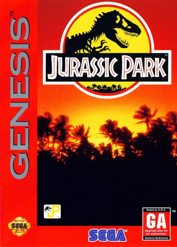 картридж (кассета) на SEGA (сега) Jurassic Park