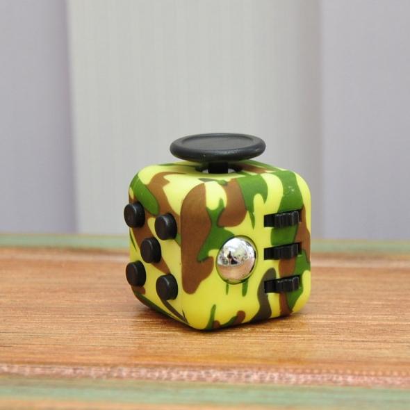 игрушка антистресс кубик-Fidget cube хаки