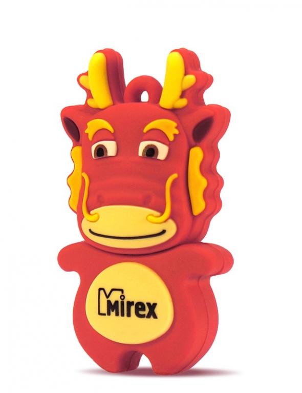 Флеш-накопитель USB  4GB  Mirex  DRAGON  красный  (ecopack)
