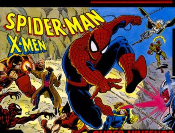 картридж ( кассета )  для MD Portable ( megadrive portable ) Spider-man vs x-men