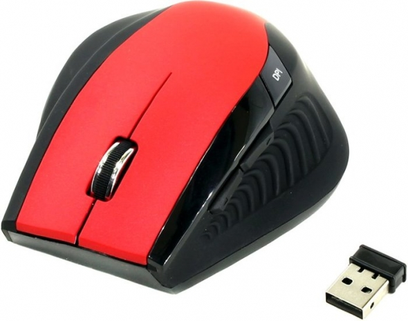 Мышь беспроводная Smart Buy 613AG, красная/чёрная