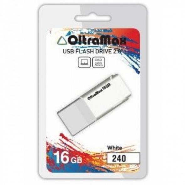 Флеш-накопитель USB 16 gb OltraMax 240 белый