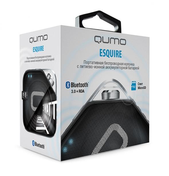 беспроводная , портативная  колонка QUMO ESQUIRE, Bluetooth