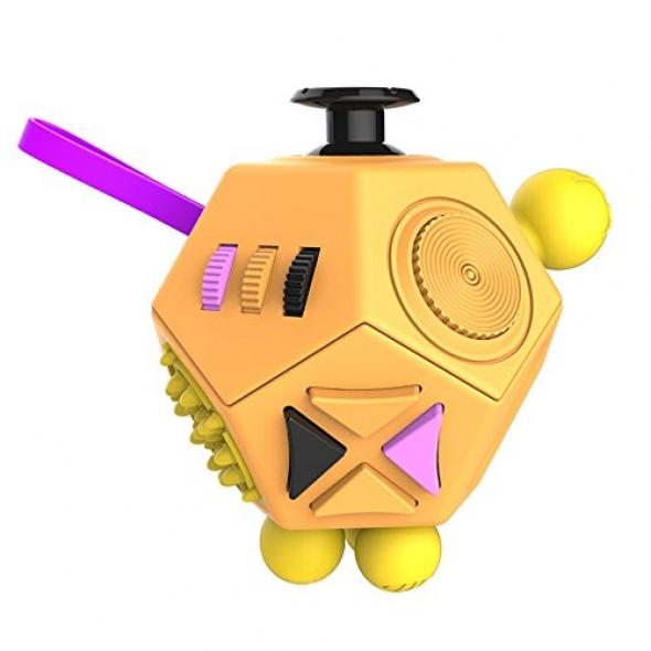 игрушка антистресс кубик-Fidget cube advance оранжевый