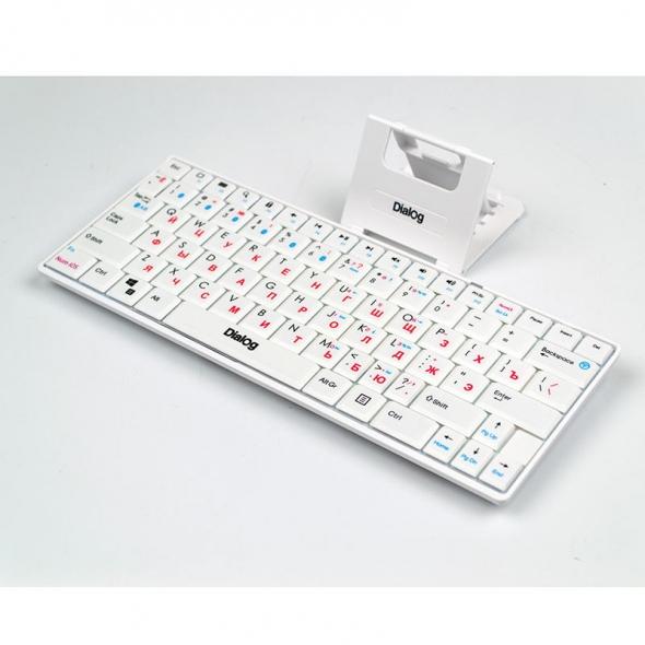 клавиатура Dialog Prestige KP-210DT,белая,Bluetooth