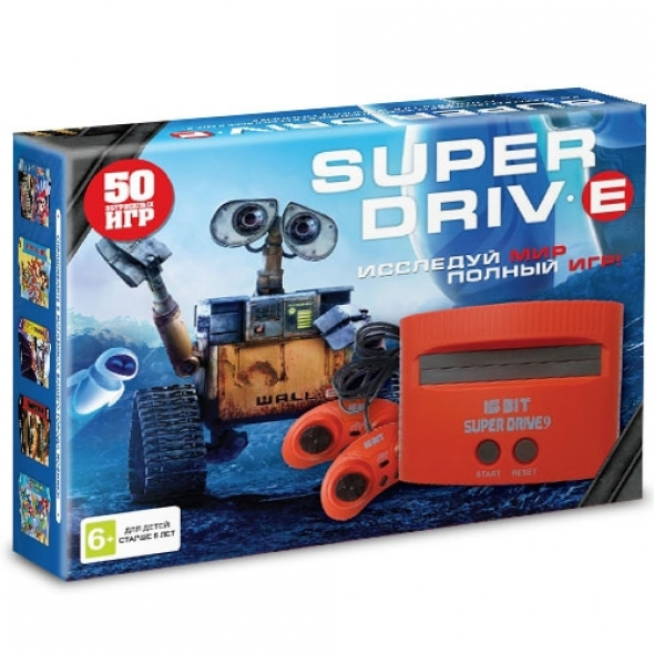 Игровая приставка sega super drive wall-e 50-in-1 ( сега мега драйв 8 )