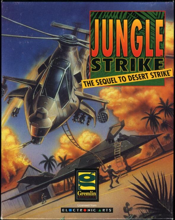 картридж (касcета) на SEGA (сега) Jungle Strike
