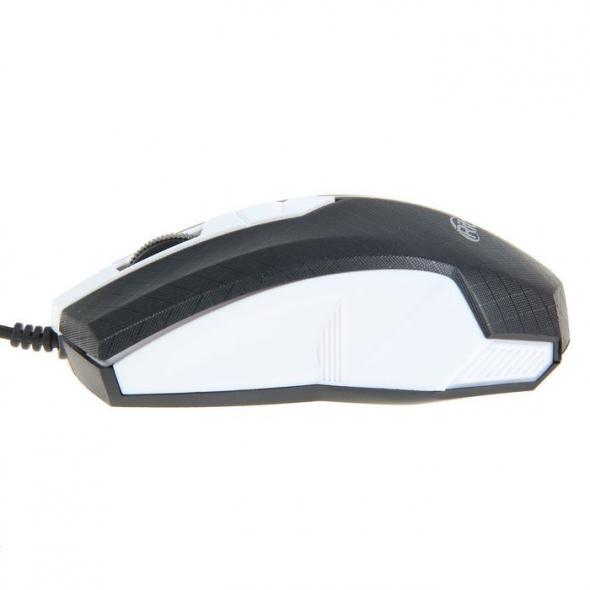 Мышь проводная  RITMIX ROM-202, белая