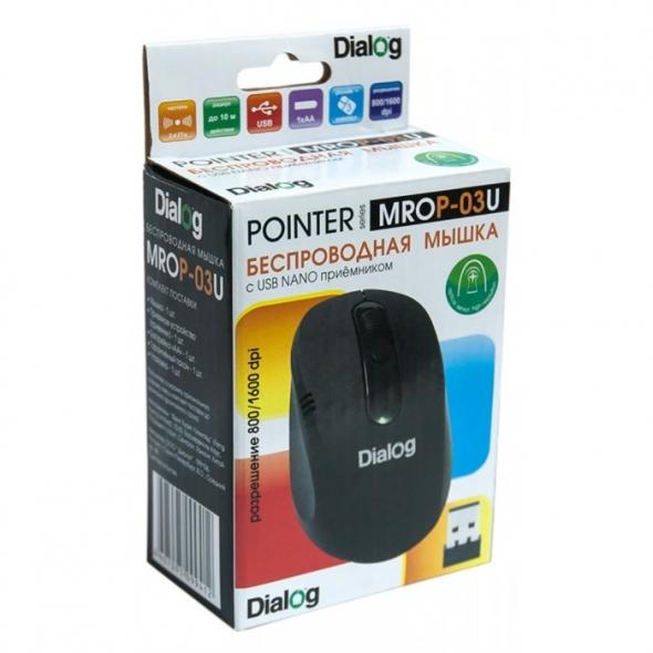 Мышь DIALOG Pointer MROP-04U, черная, USB, беспроводная