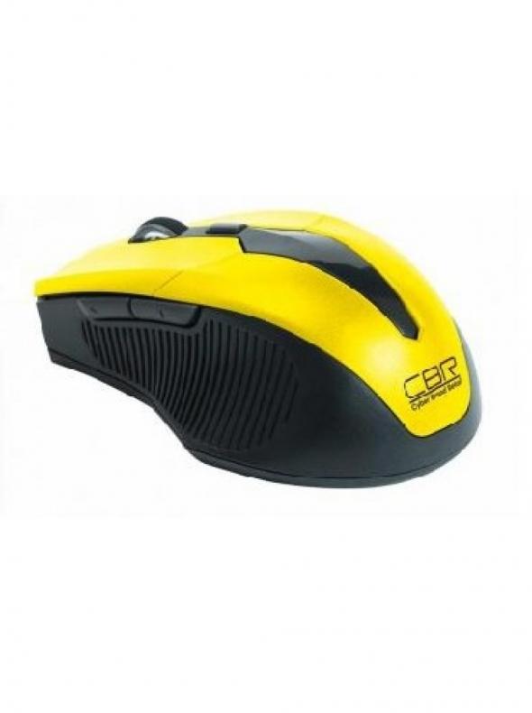 Мышь беспроводная CBR CM-547, жёлтая