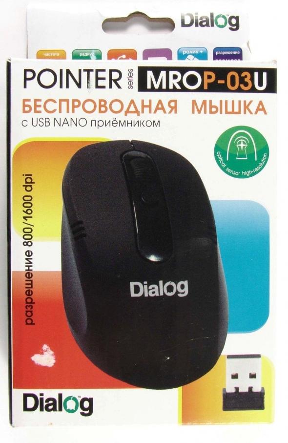 Мышь DIALOG Pointer MROP-03U, черная, USB, беспроводная