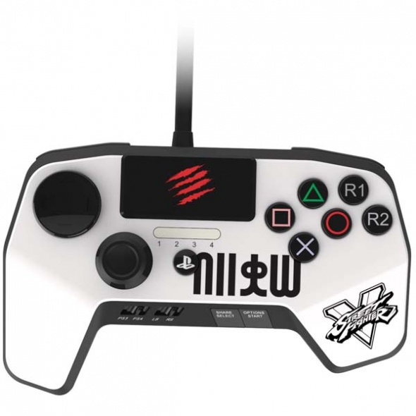 джойстик PS4 / PS3 Controller madcatz FightPad белый