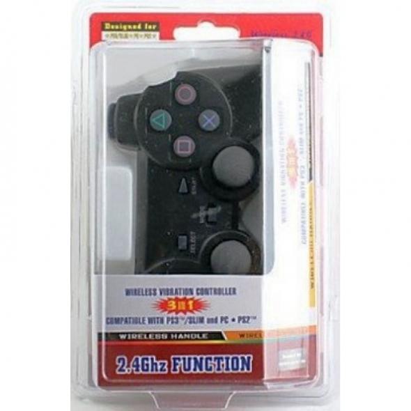 джойстик для PS3/PS2/PC wireless controller black (3в1)