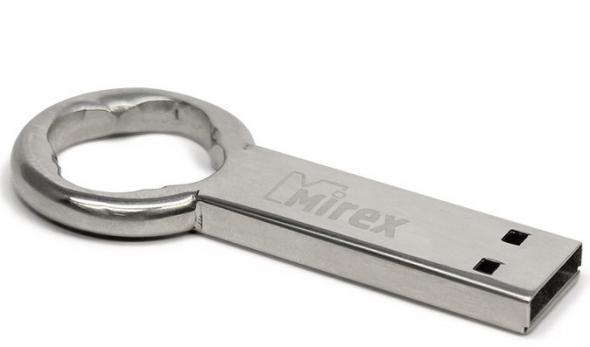 Флеш-накопитель USB  8GB  Mirex  ROUND KEY  (ecopack)