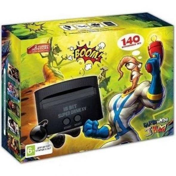 Игровая приставка Sega Super Drive EarthWormJim 140 в 1