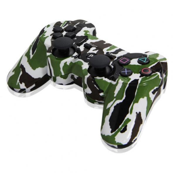 джойстик для Sony PLAYSTATION 3  DUALSHOCK 3 камуфляж White Black Green