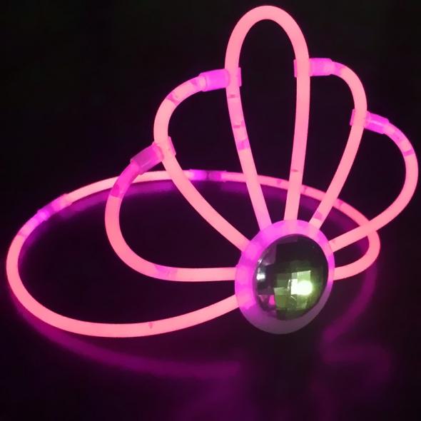 Светящая полочка тиара розовая