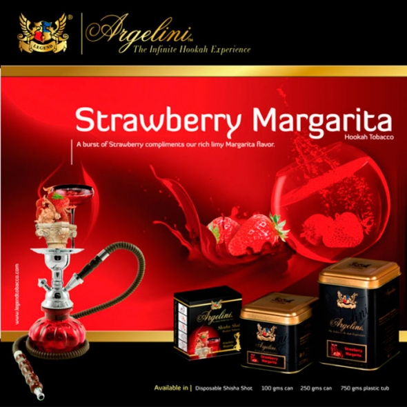 "Табак для кальяна "" Argelini ""  strawberry margarita"