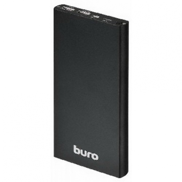 зарядное устройство Buro RA12000-AL-BK , 12000 mAh , 2.1 а + 1 а , черный , 2 USB