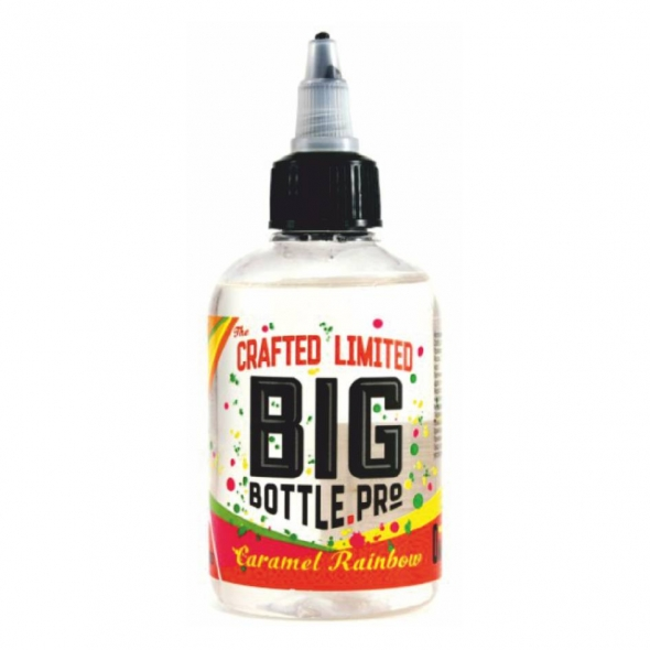 """Жидкость для Электронных сигарет """" Big bottle pro"""" Caramel rainbow  емкость 120 мл, никотин 0 мг"""
