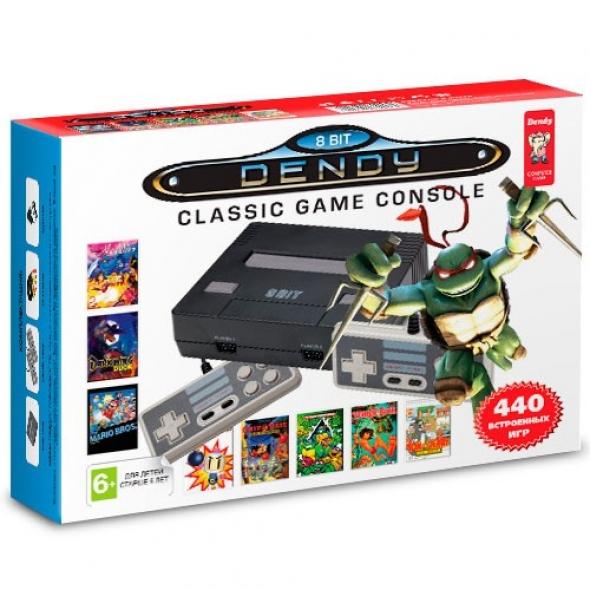 Игровая приставка Dendy  NES 440 в 1 black