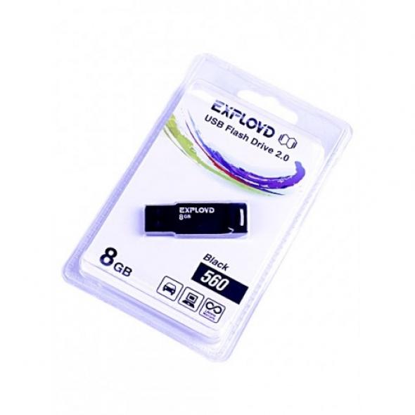 Флеш-накопитель USB  8GB  Exployd  560  чёрный