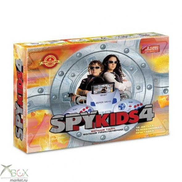 Игровая приставка Sega Super Drive Spy Kids 4 + (сега супер драйв спай кидс 4 +)