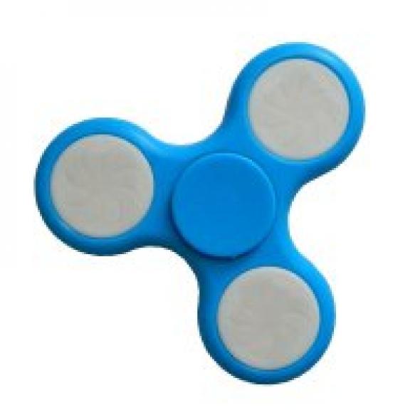 Spinner ( Спиннер ) светящийся антистресс голубой