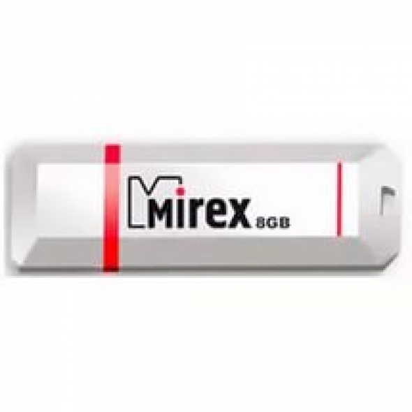 Флеш-накопитель USB  8GB  Mirex  KNIGHT  белый  (ecopack)