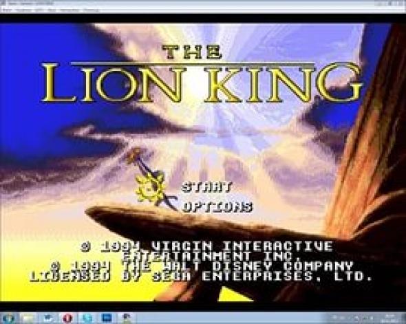 картридж (кассета) на SEGA (сега) Lion King 3 (король лев 3)