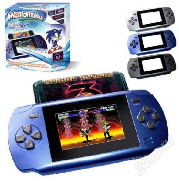 Портативная игровая приставка  MD Portable 360 Black