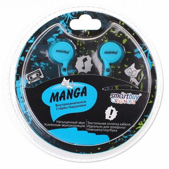 Наушники Smartbuy SBE-1060 Manga, синие