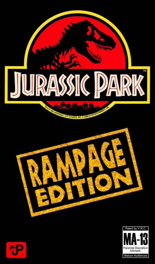 картридж (кассета) на SEGA (сега) Jurassic Park Rampage Edition