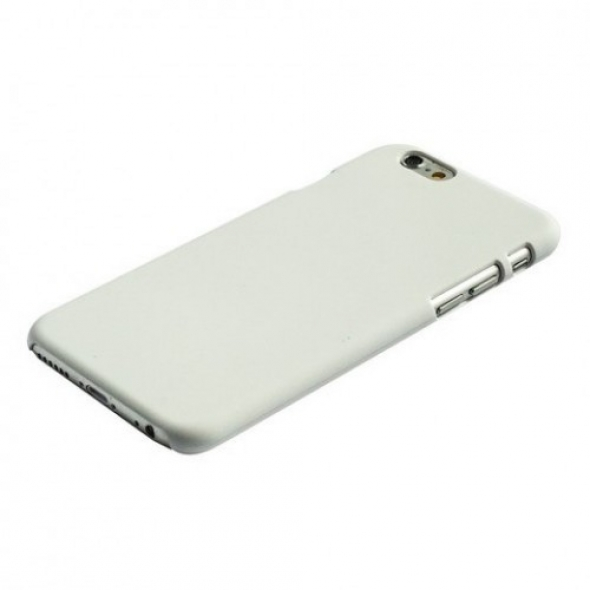 чехол накладка пластиковая  iPhone 6s Plus  /  iPhone 6 Plus  матовая без логотипа белая Пуск