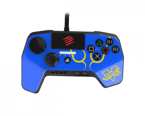 джойстик для Sony PLAYSTATION  3 / Sony PLAYSTATION  4 MadCatz FightPad синий
